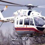 Санитарный вертолет эвакуировал пострадавшую с места ДТП на северо‑западе Москвы