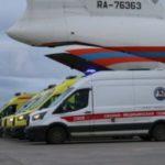 Спецборт МЧС России осуществил санитарно-авиационную эвакуацию детей из Ростова-на-Дону в Москву и Санкт-Петербург