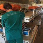 Спецборт МЧС России осуществляет санитарно-авиационную эвакуацию пострадавших при взрыве бытового газа из Махачкалы в Москву