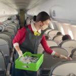 S7 Airlines использовала почти 30 тысяч литров дезинфицирующих средств для обработки самолетов